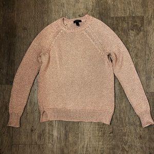 JCrew Rosegold Shimmer Sweater XS